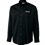 PR101<br>Men's Long Sleeve Nailhead Easy Care Shirt